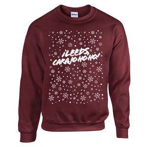 Â¡Leeds Carajo-hoho! Christmas Jumper (Maroon)