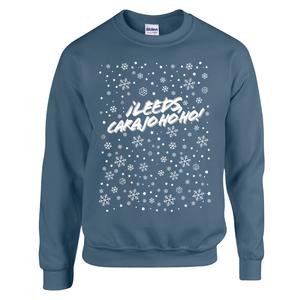 Â¡Leeds Carajo-hoho! Christmas Jumper (Indigo Blue)