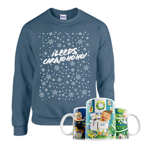 Christmas With Marcelo Mug & Jumper Bundle (Indigo Blue)