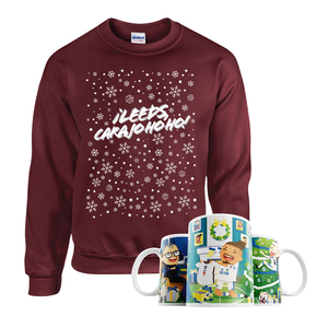 Christmas With Marcelo Mug & Jumper Bundle (Maroon)