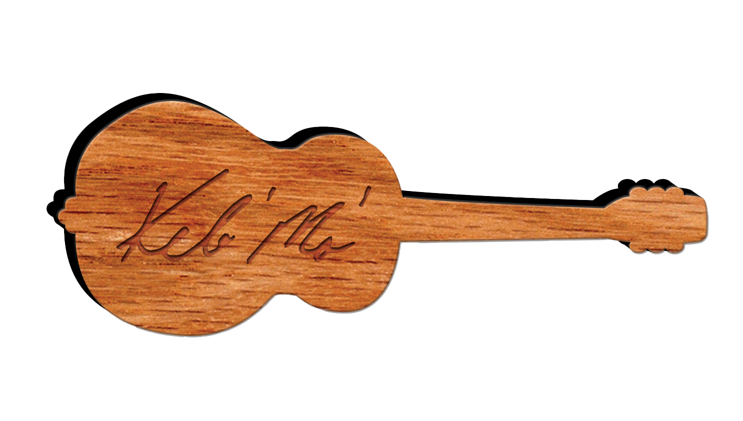 Laser Etched Bamboo Guitar Ornament