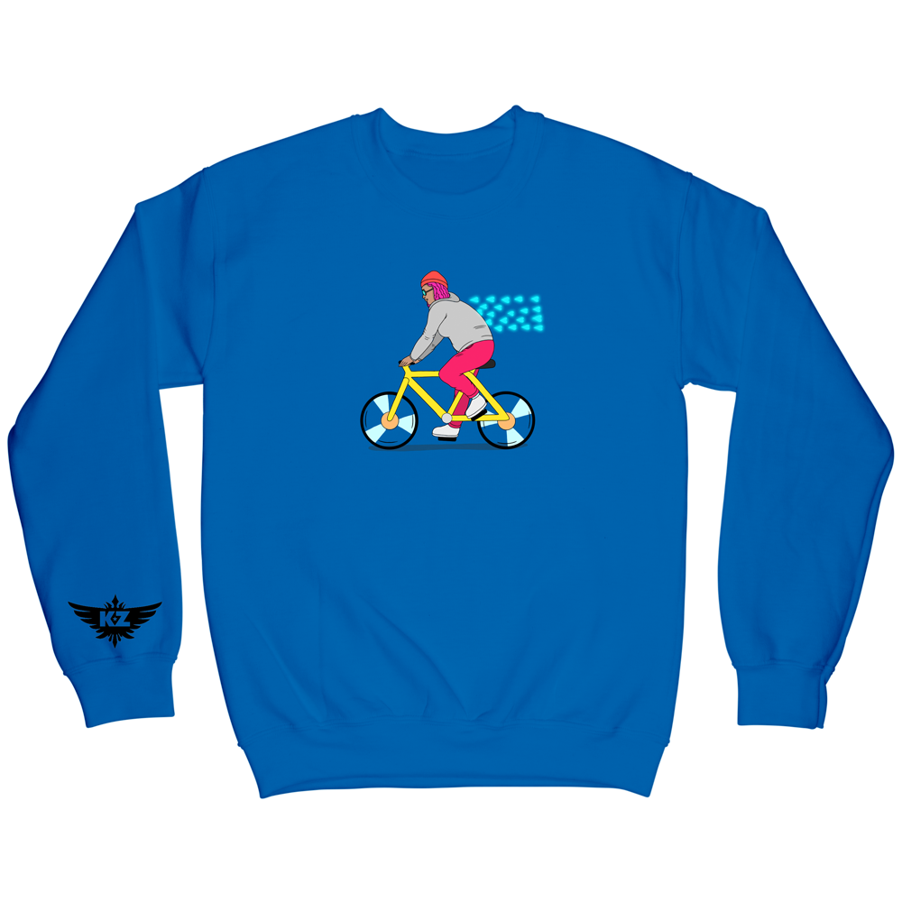 Bike Crewneck - Blue
