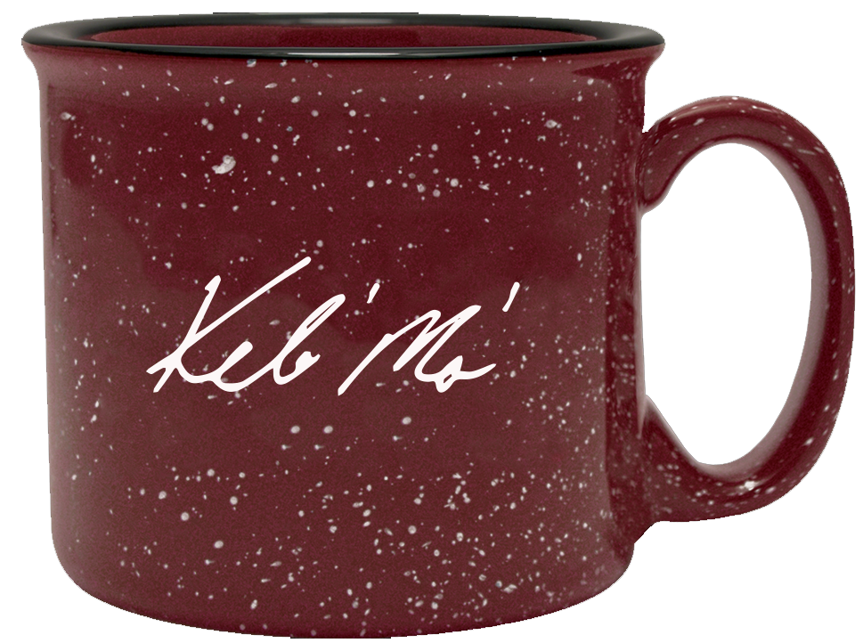 Red Splatter Ceramic Camping Mug