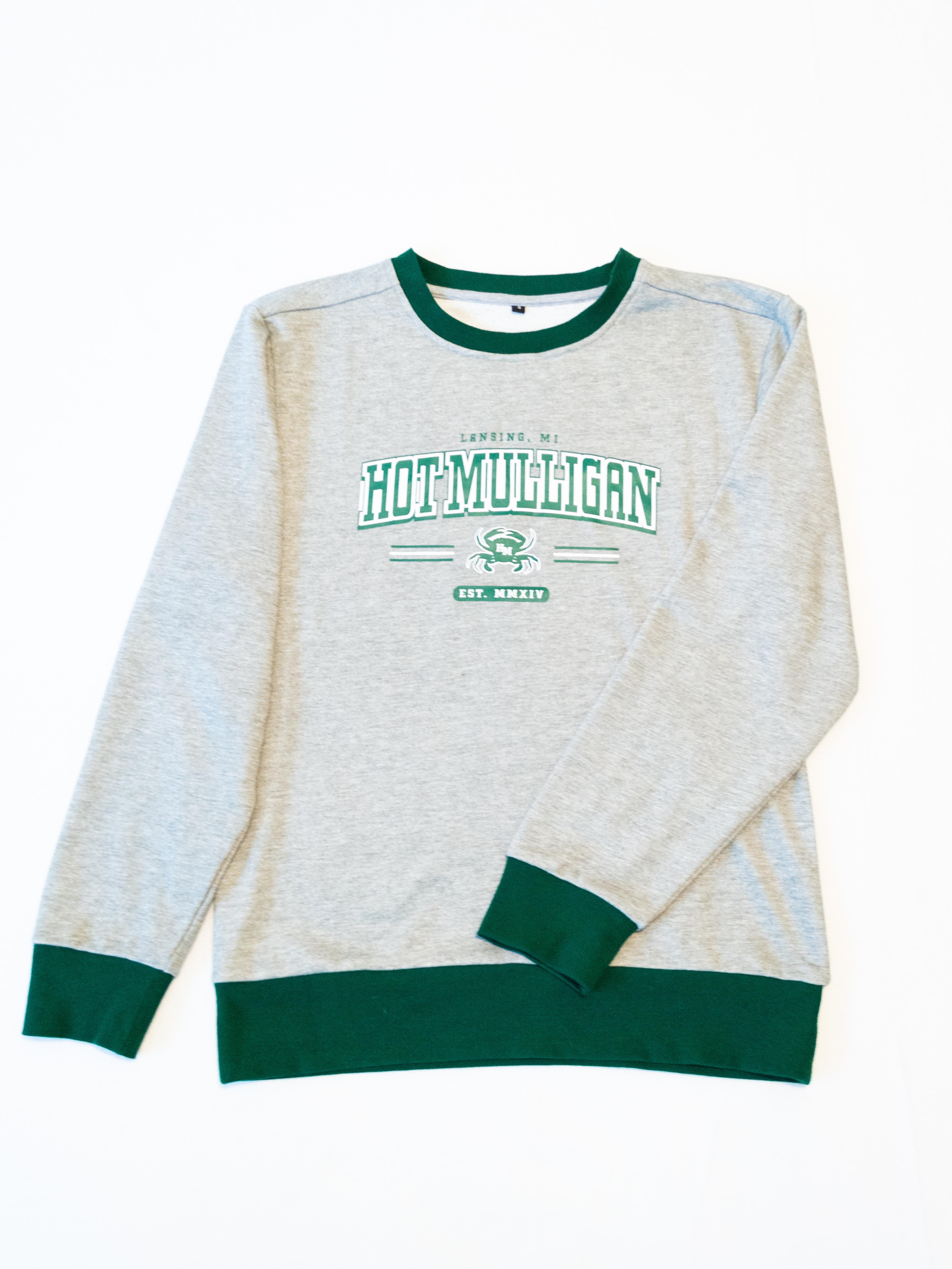 Contrast Crab Pullover Sweatshirt