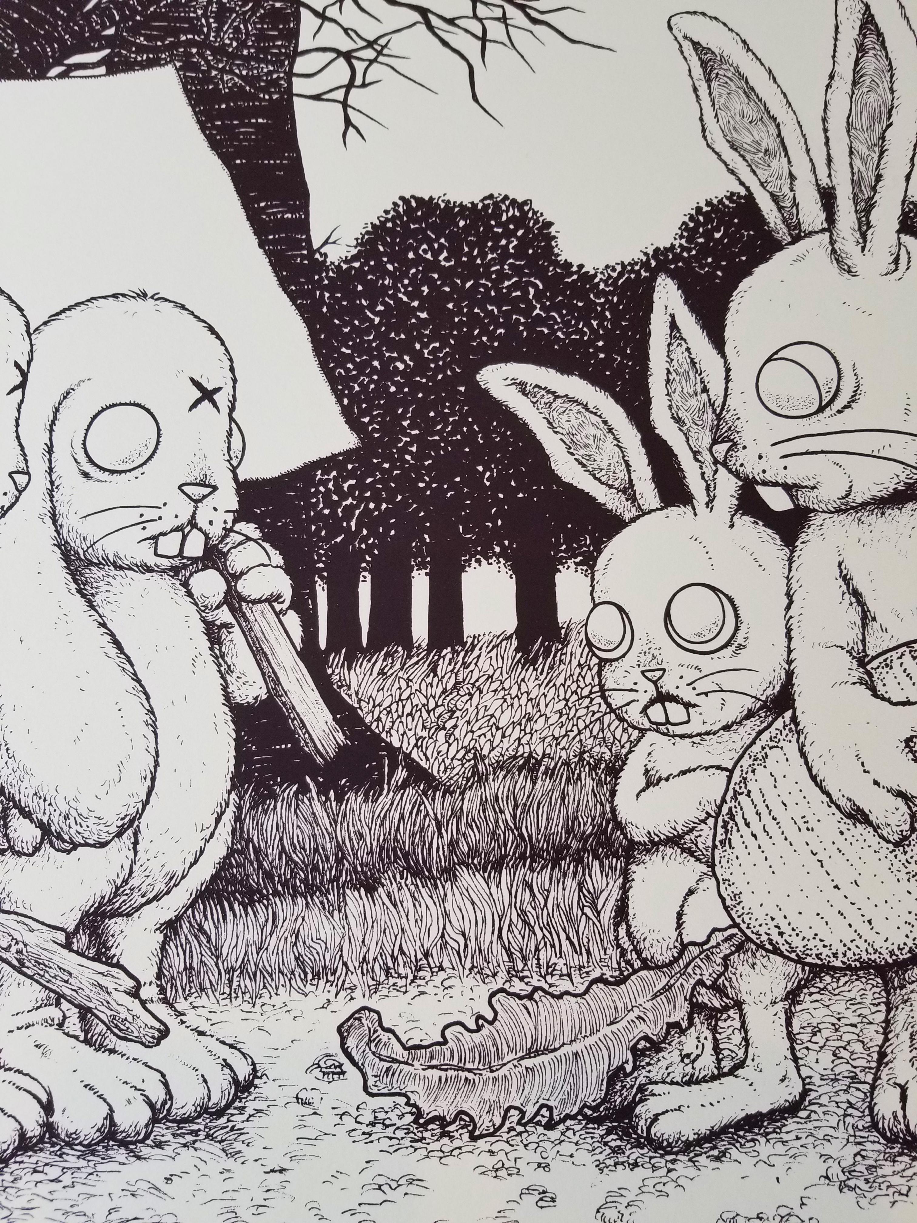 - 'Stupid Animals See Enemies Everywhere' Art Print Keyline Edition (s/n edition of 25) -
