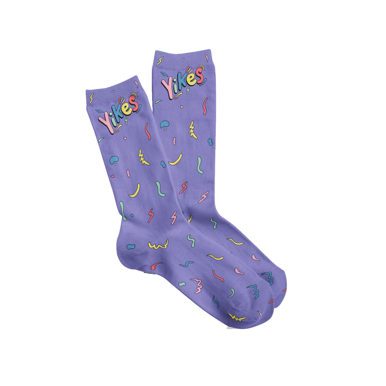 Yikes Socks - Purple