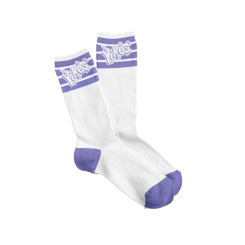 Yikes Socks - White