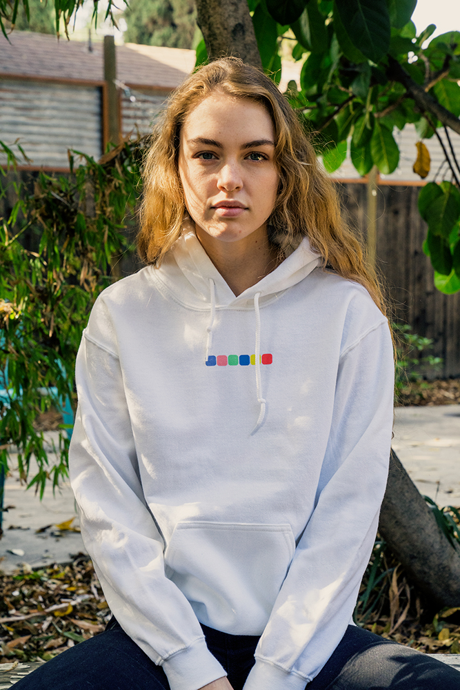 Yikes Puff Ink Hoodie - White