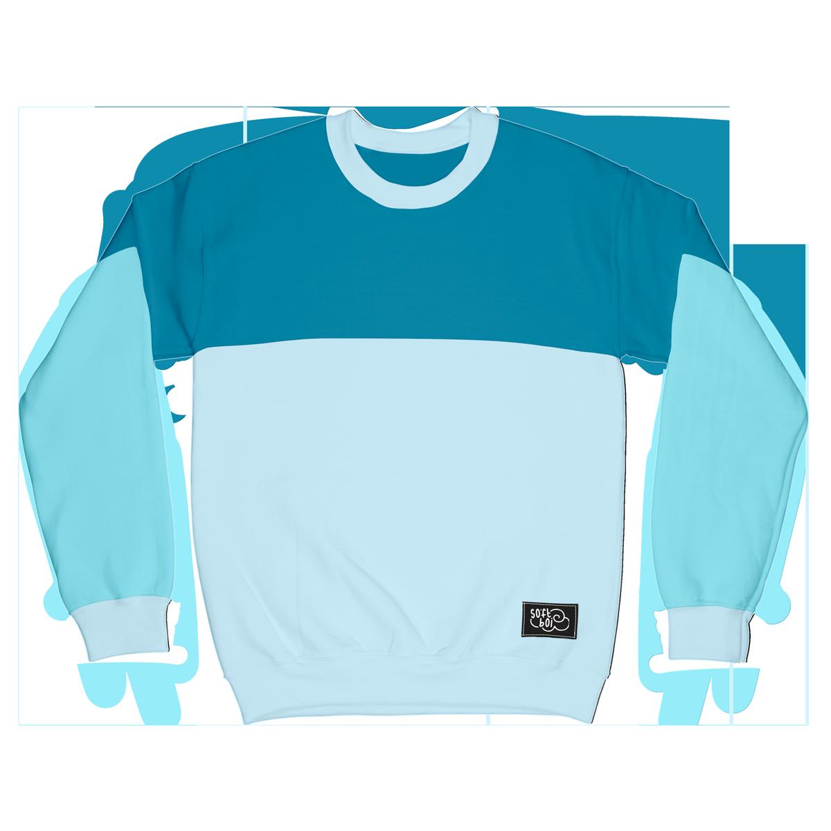 Colorblock Crewneck - Blue