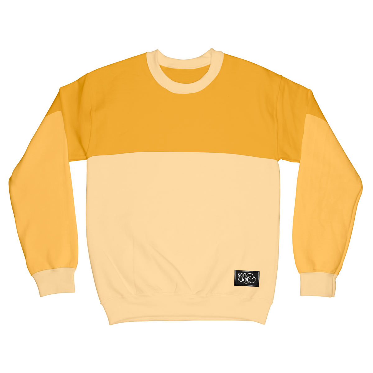 Colorblock Crewneck - Yellow