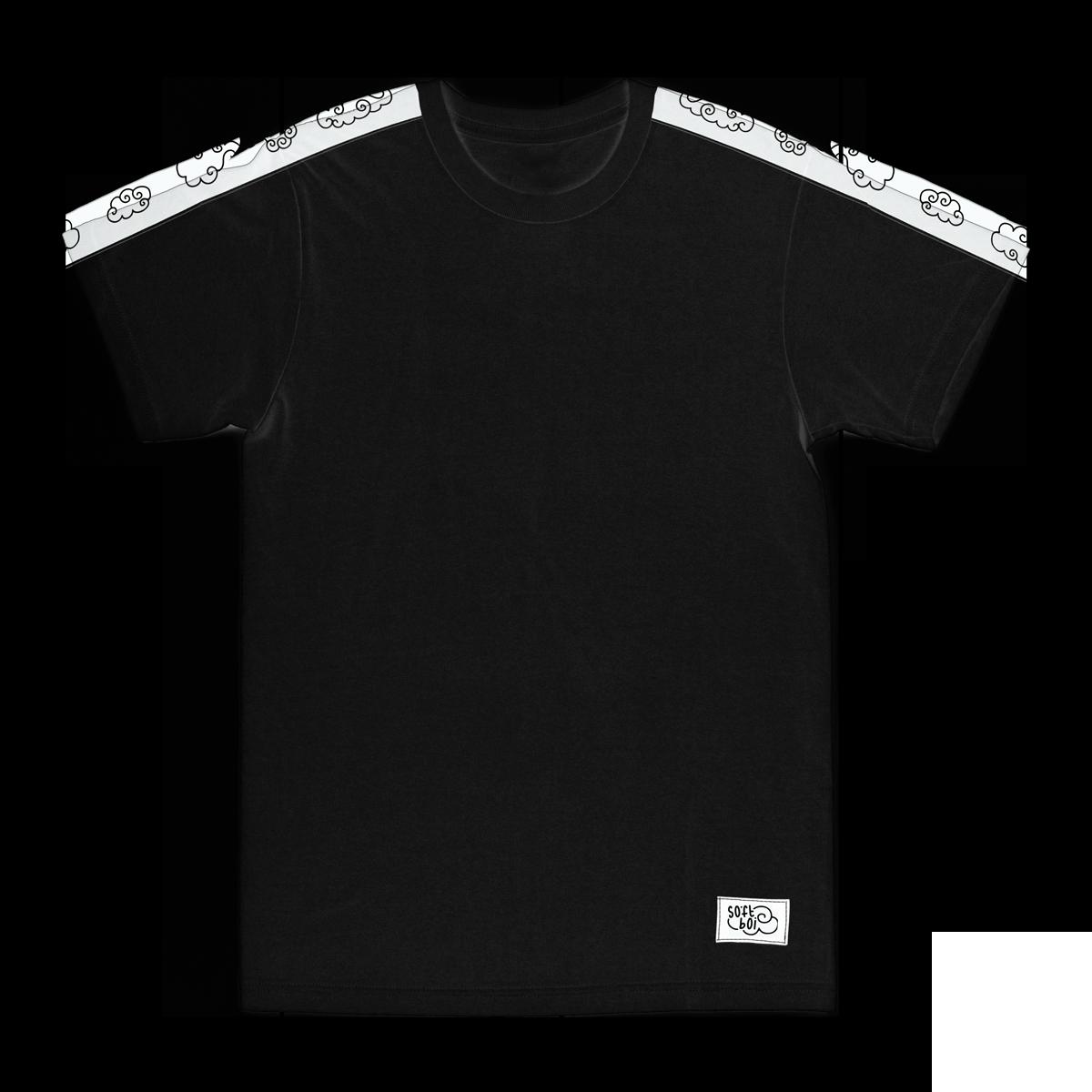 Sleeve Stripe Tee - Black