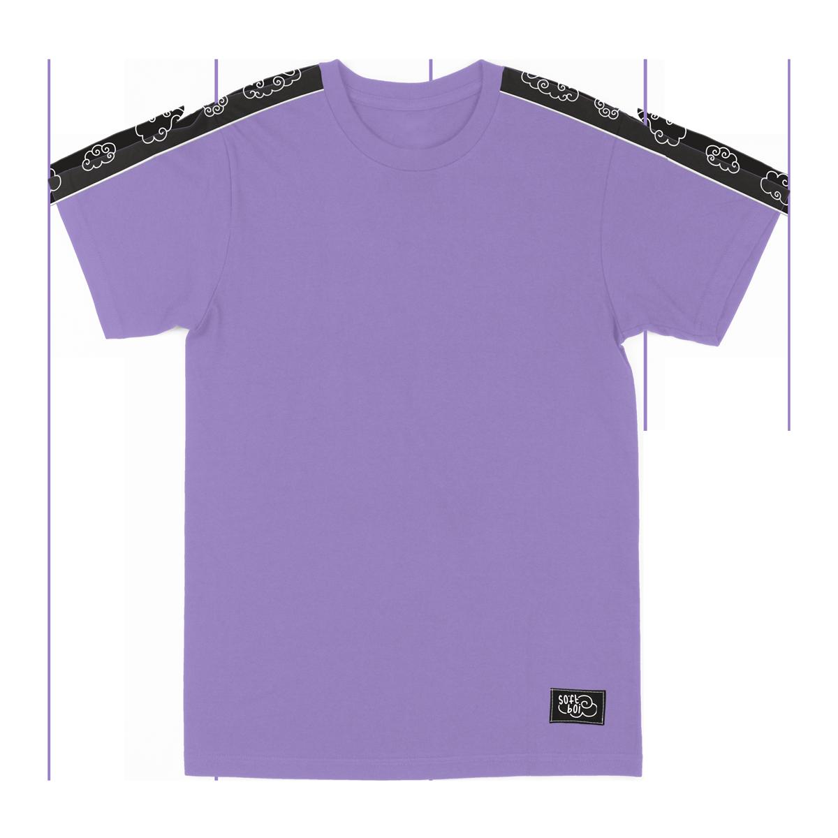 Sleeve Stripe Tee - Lavender