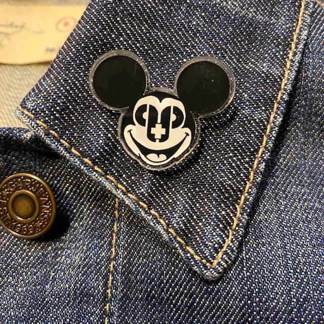 Mickey Skull Acrylic Pin