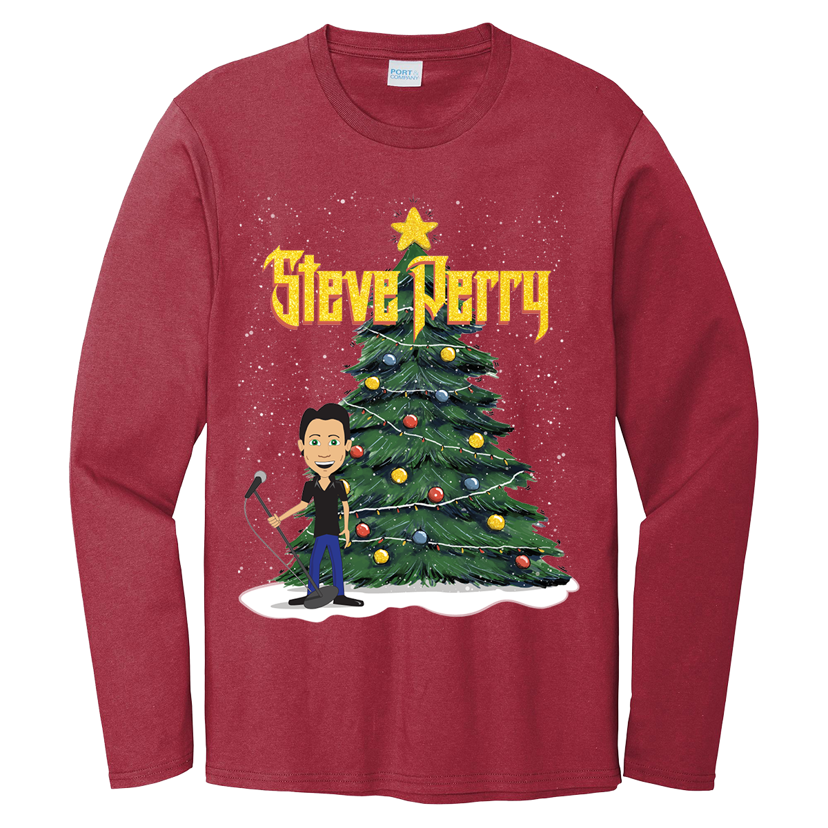 Steve Perry Long Sleeve Christmas Tee (3 Options)