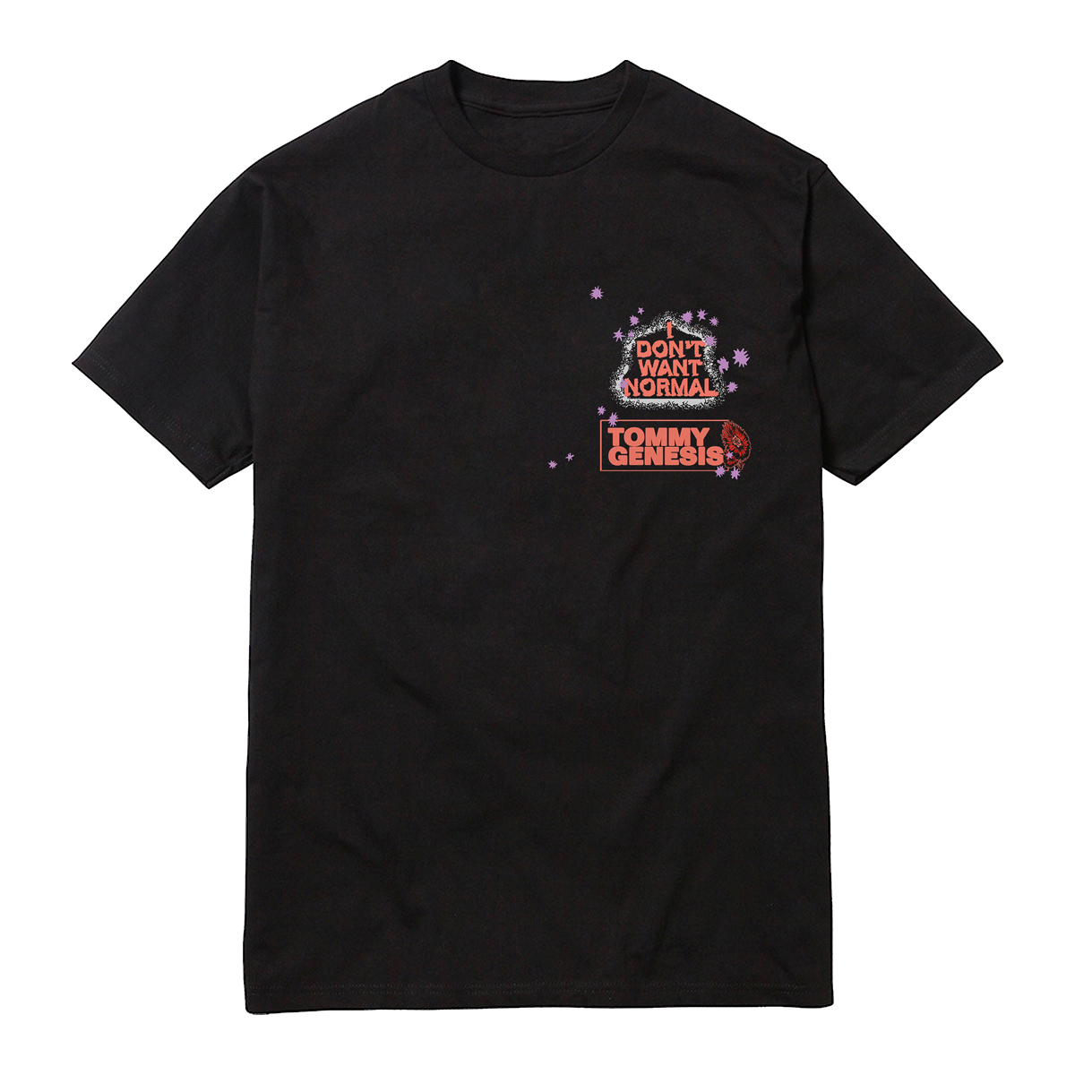 I Don't Want Normal Tee - Black