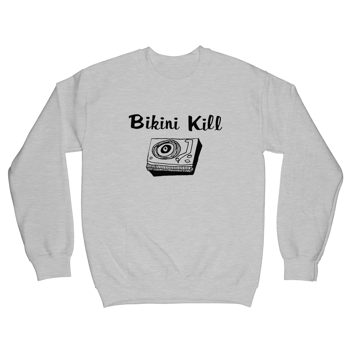 Record Player Crewneck - Grey