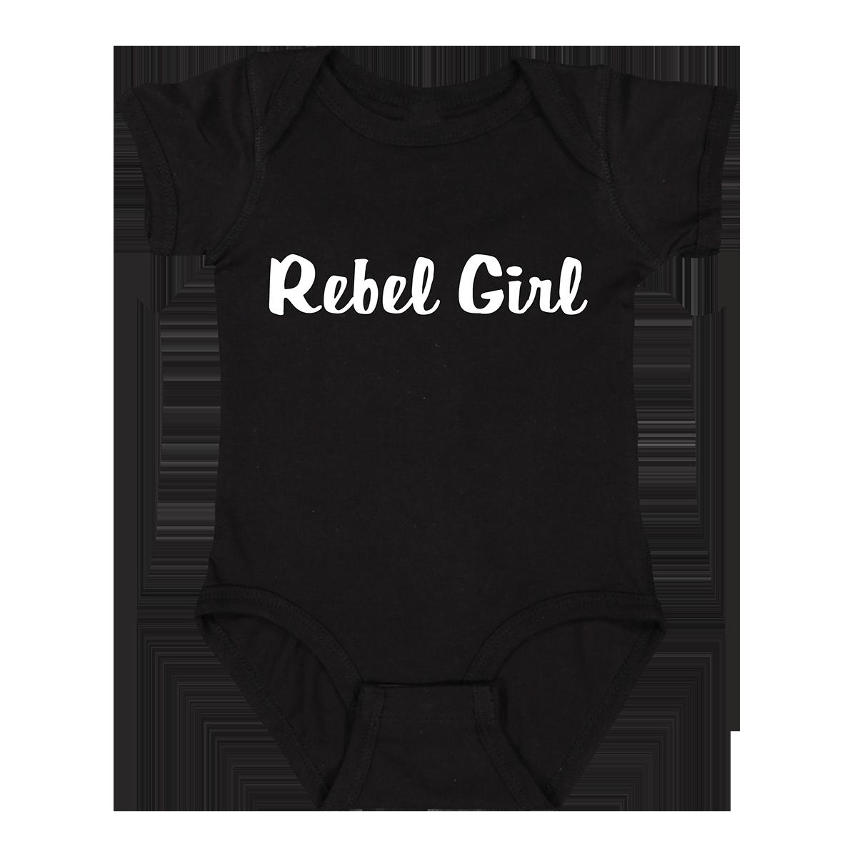 Rebel Girl Onesie - Black