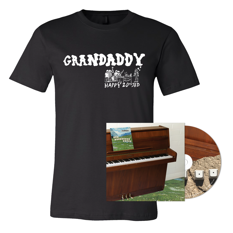 Grandaddy - The Sophtware Slump ..... on a wooden piano - CD + Black Shirt Bundle