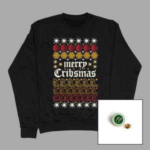 The Cribs – Night Network – Limited Edition Cribsmas Sweater + 2020 Pin