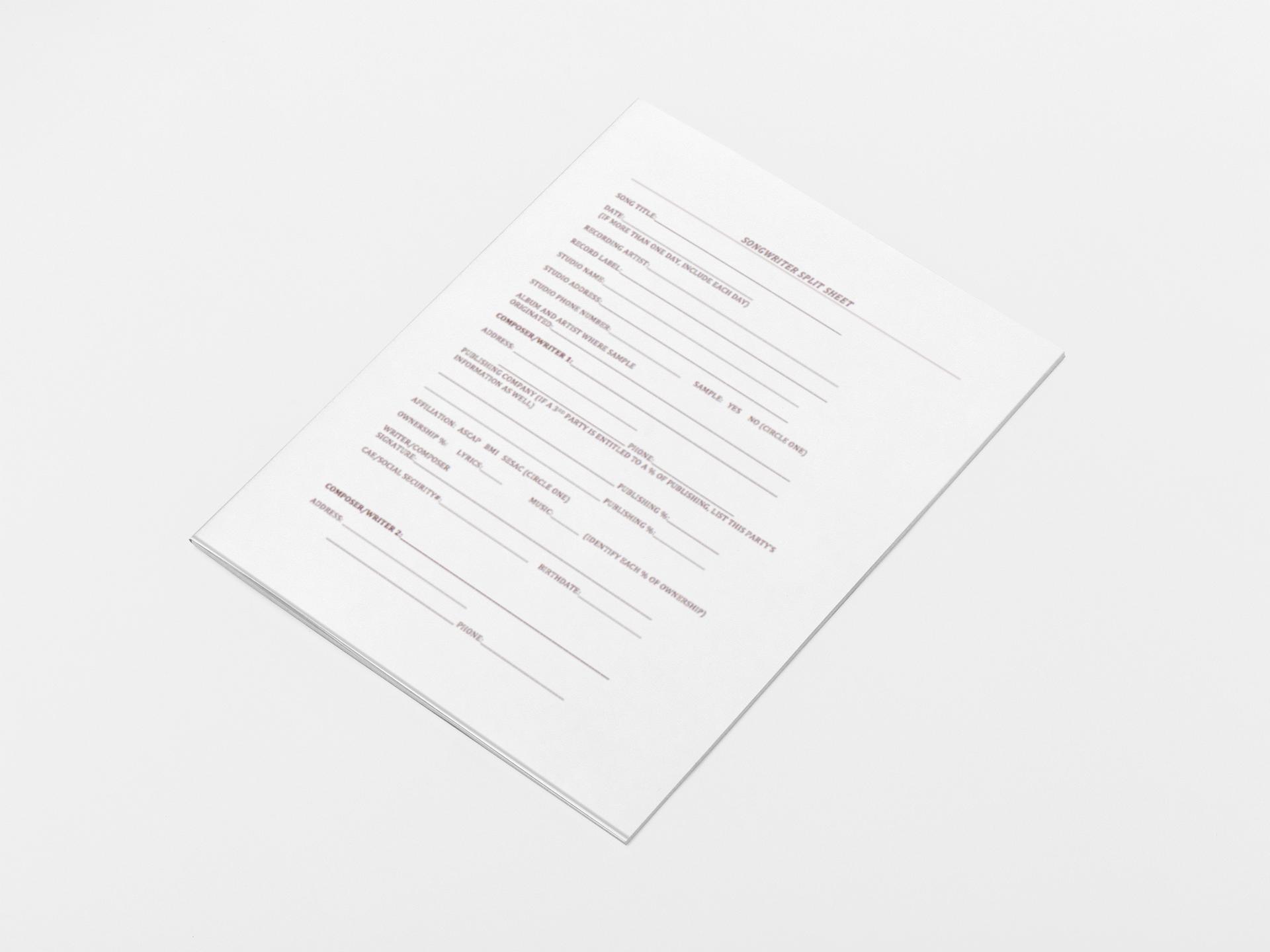 Split Sheets