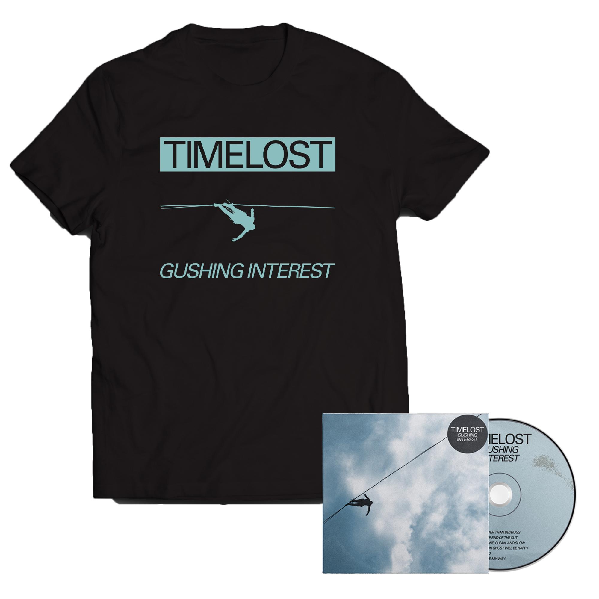 Timelost - Gushing Interest CD + shirt