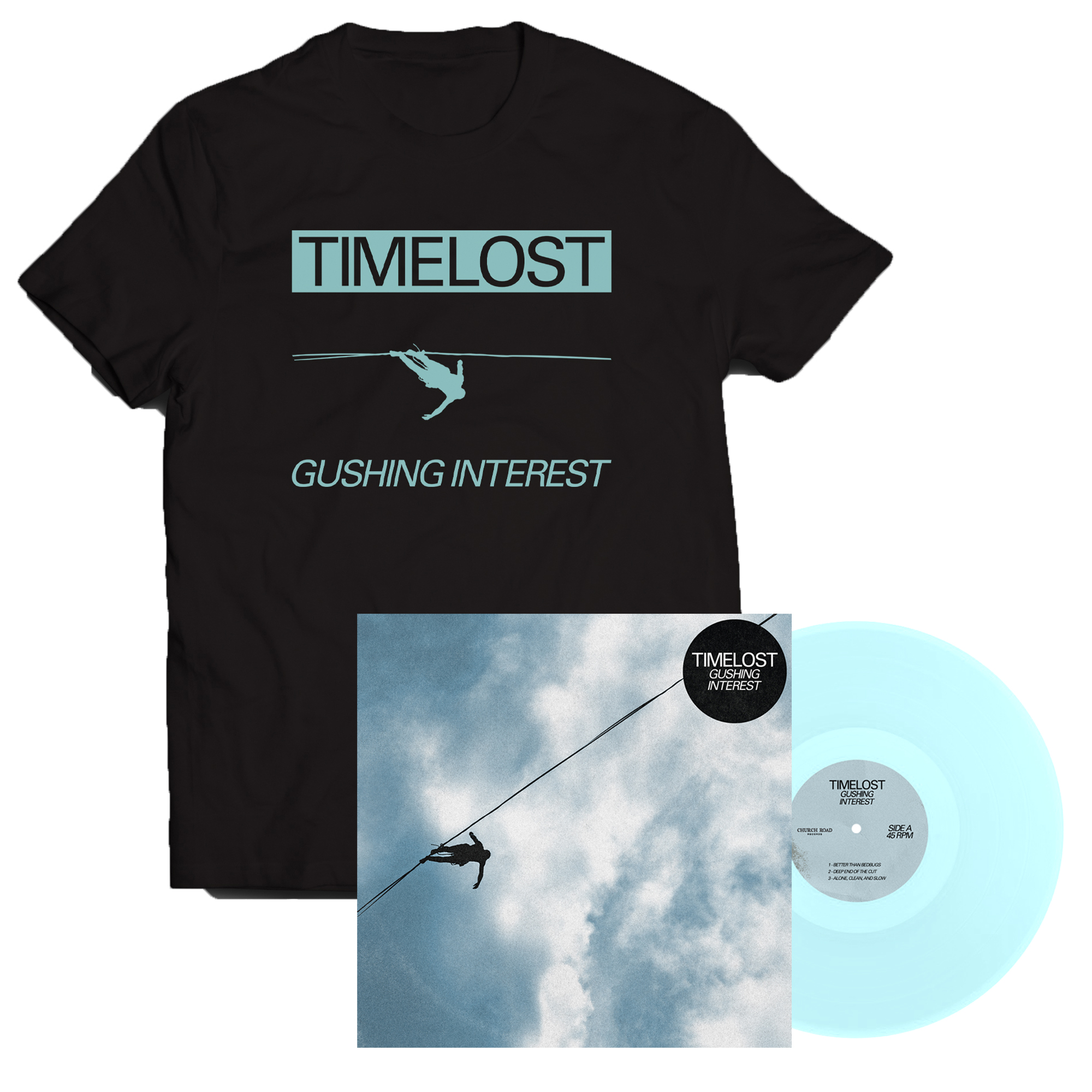 Timelost - Gushing Interest LP + shirt