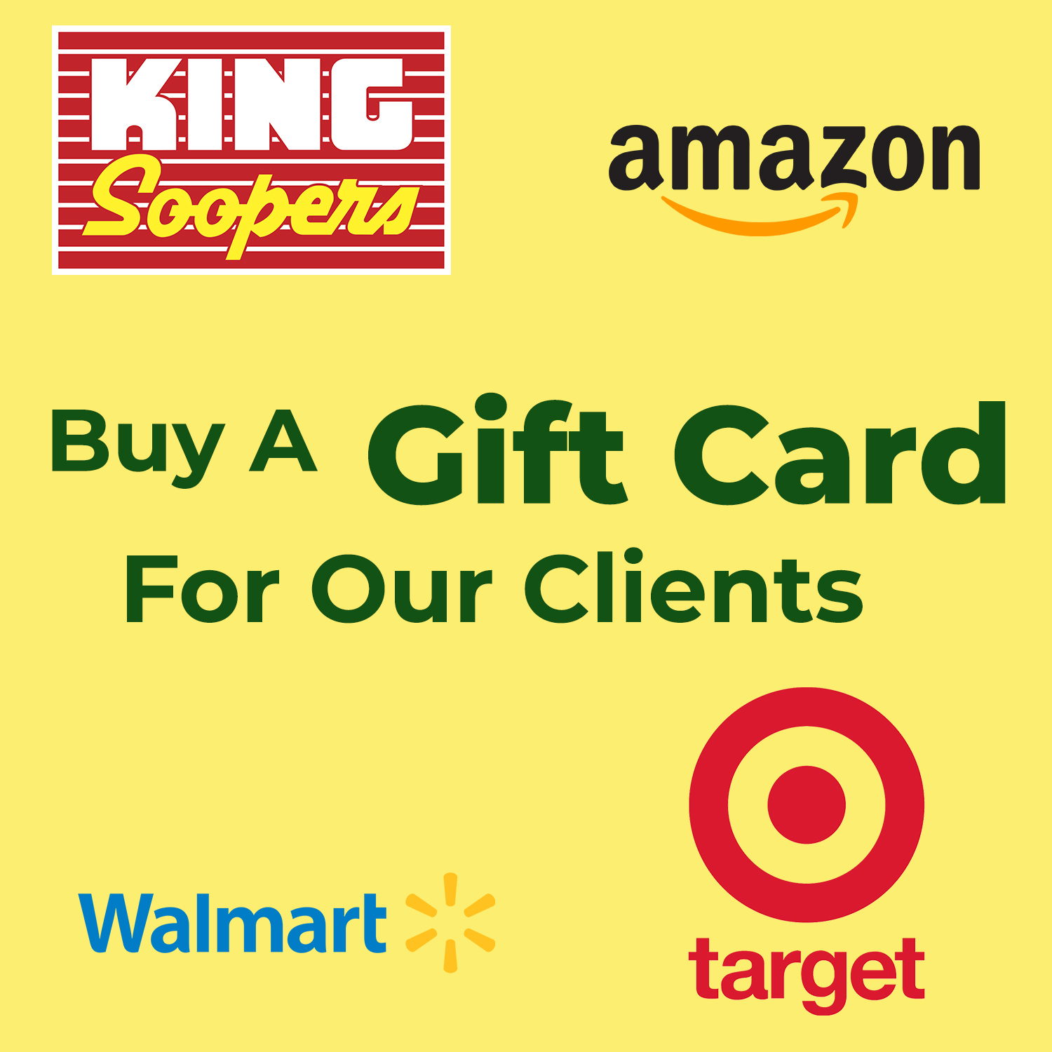 Gift Cards For Our Clients- Multiple Options