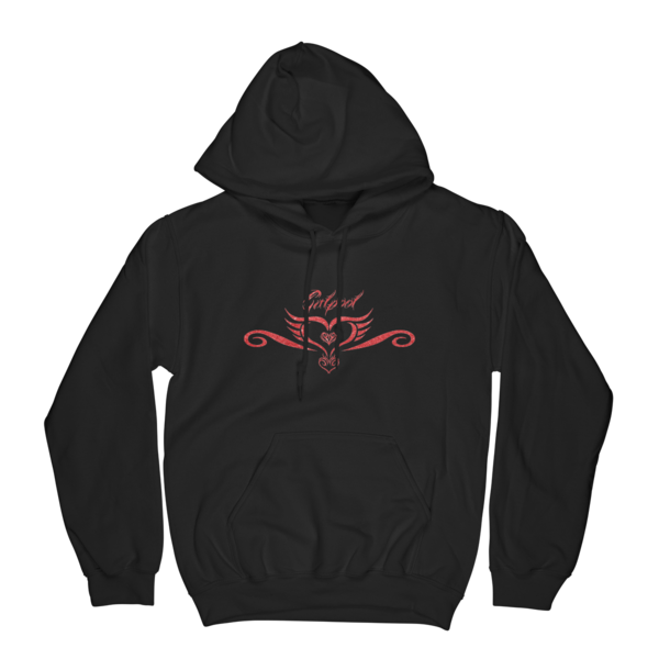 Tattoo Hoodie (Red Shimmer ink)