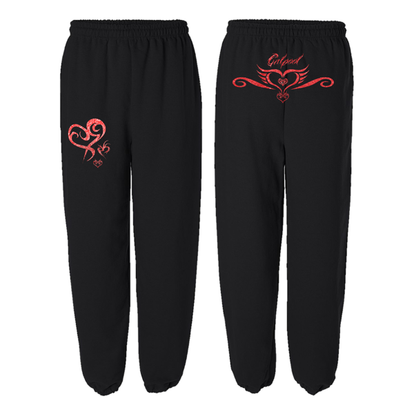 Tattoo Sweatpants (Red Shimmer ink)