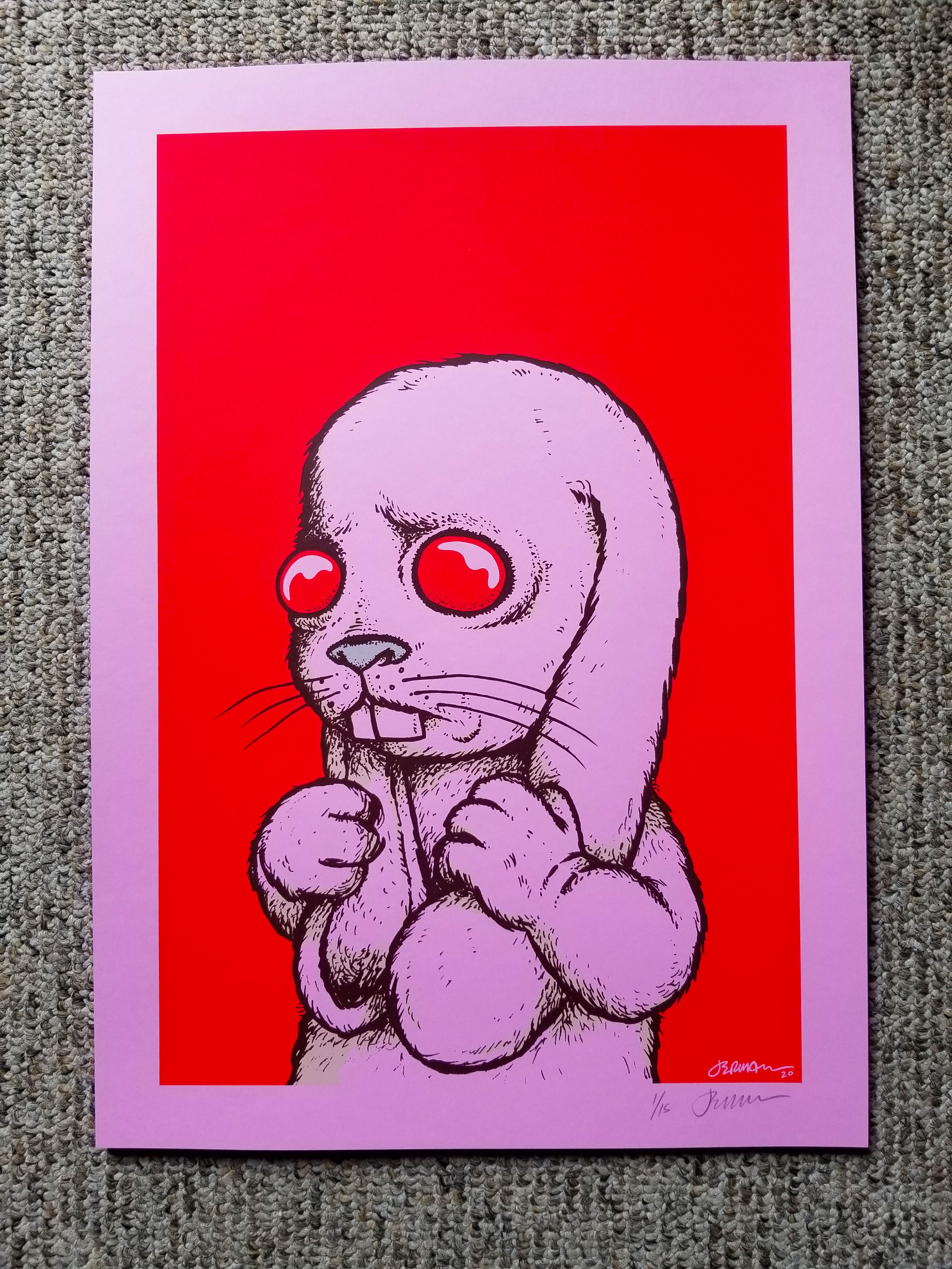 'I have to snap out of this.' Art Print (PINK Variant Edition of Only 15 Pieces)