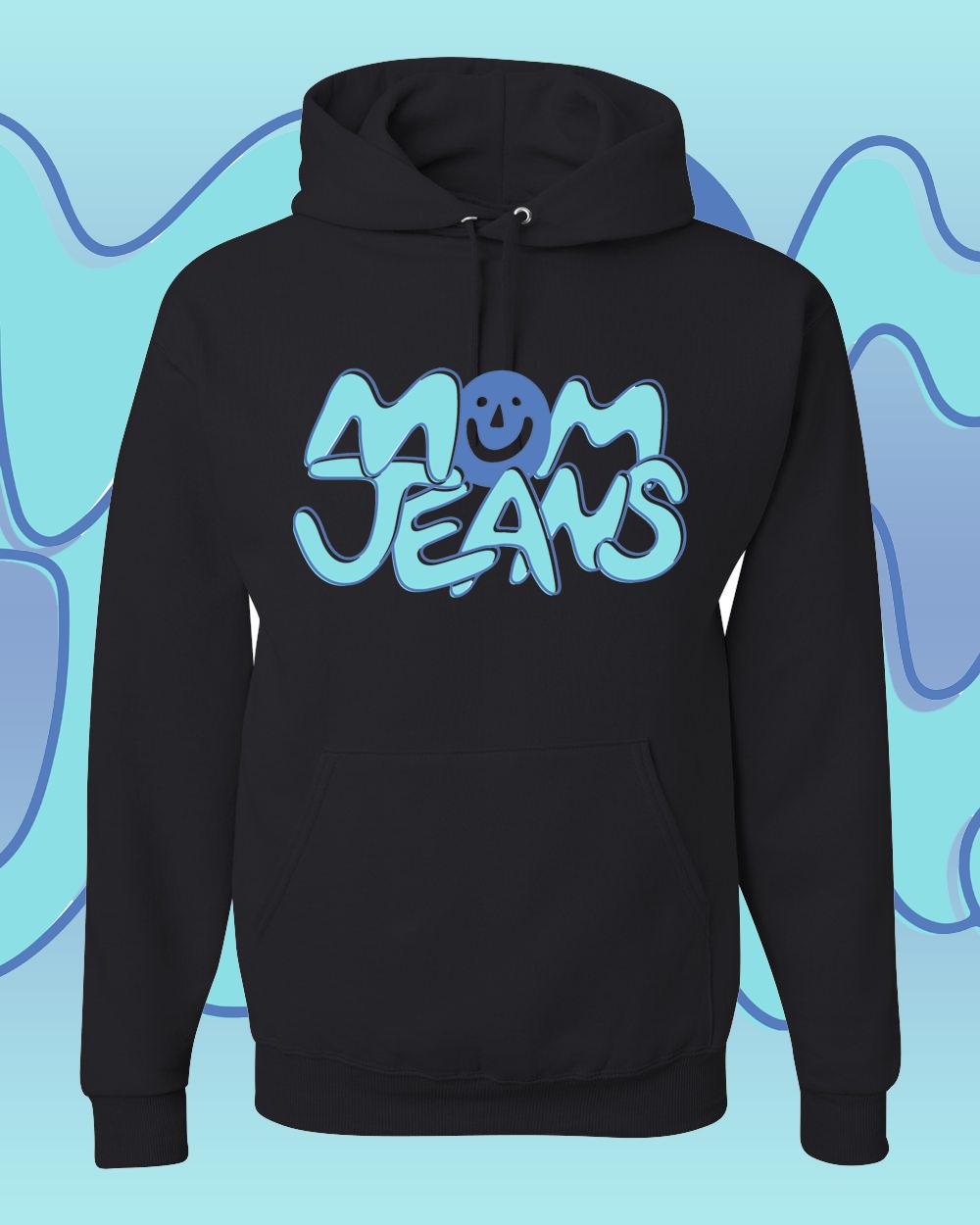 Mom Jeans Hoodie Black