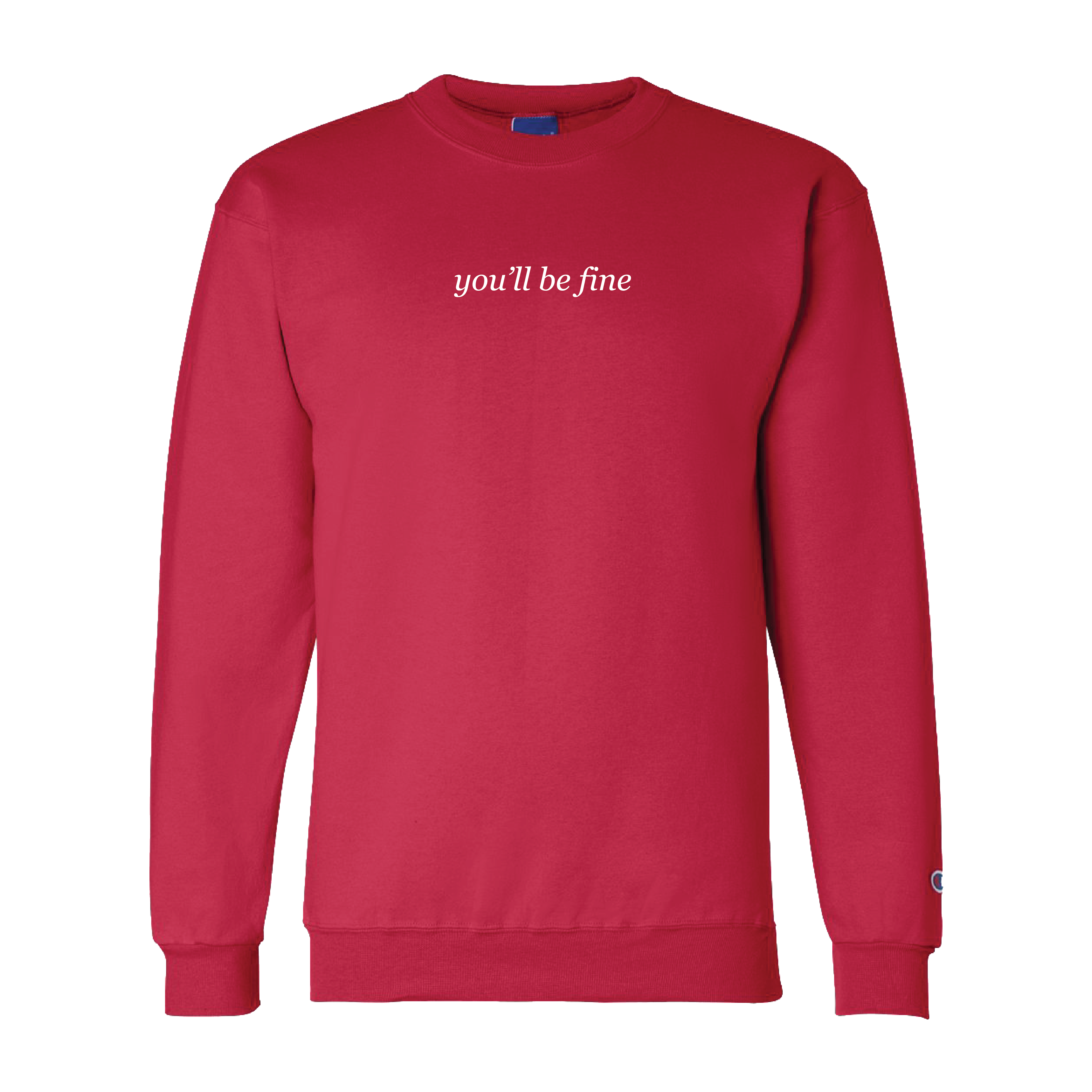 You'll Be Fine Crewneck (Red)