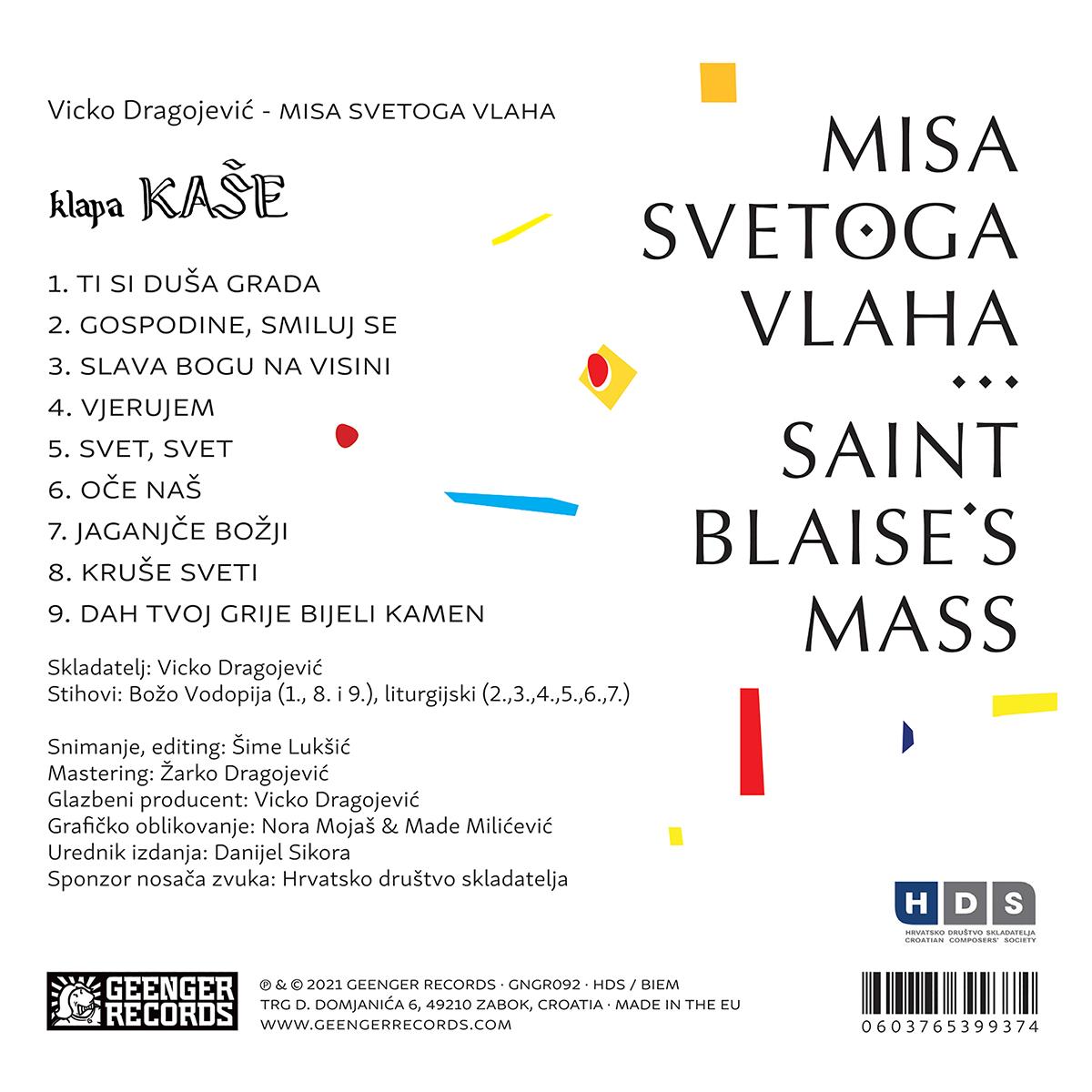 KLAPA KAŠE - Misa svetoga Vlaha
