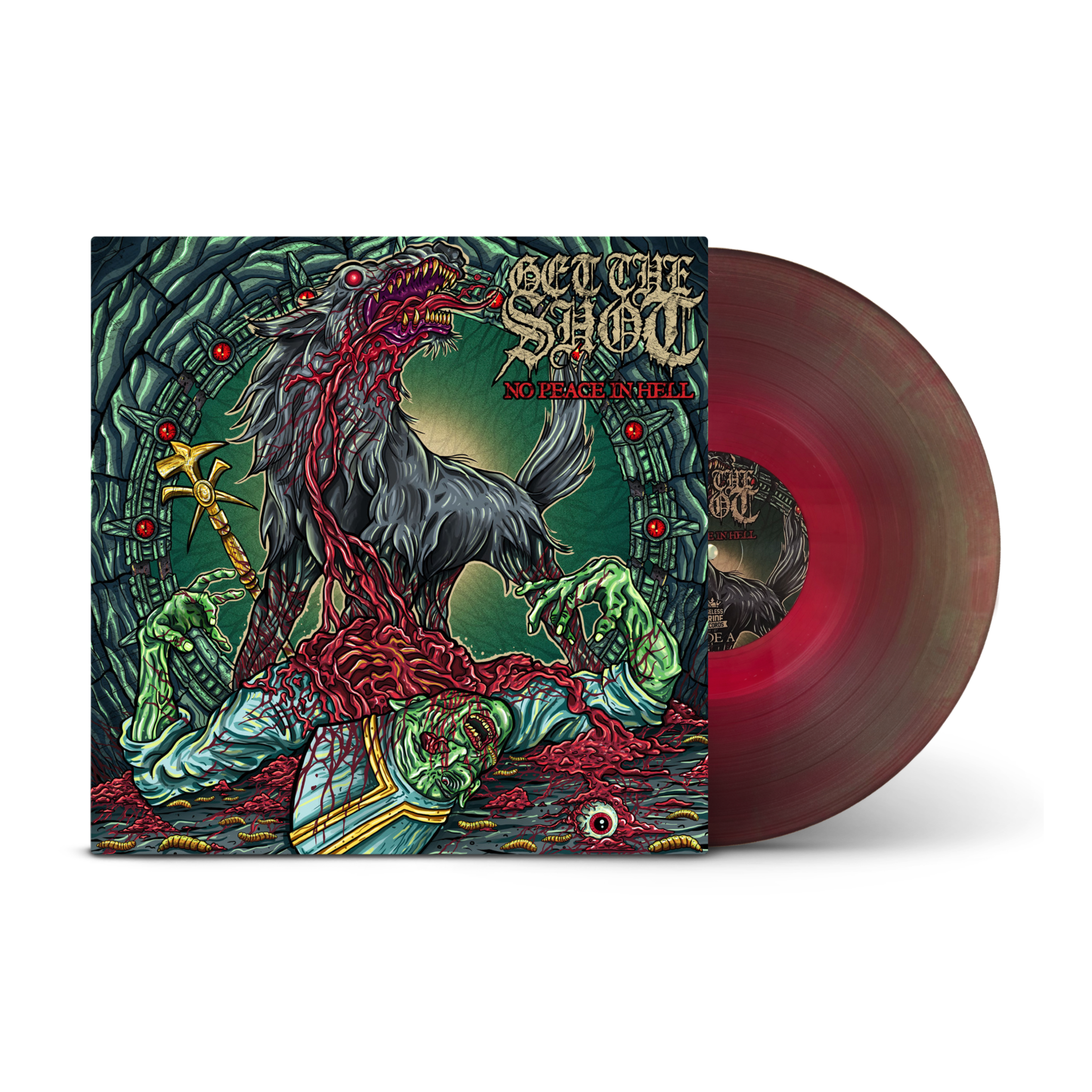 -sold out- Get The Shot 'No peace in hell' LP