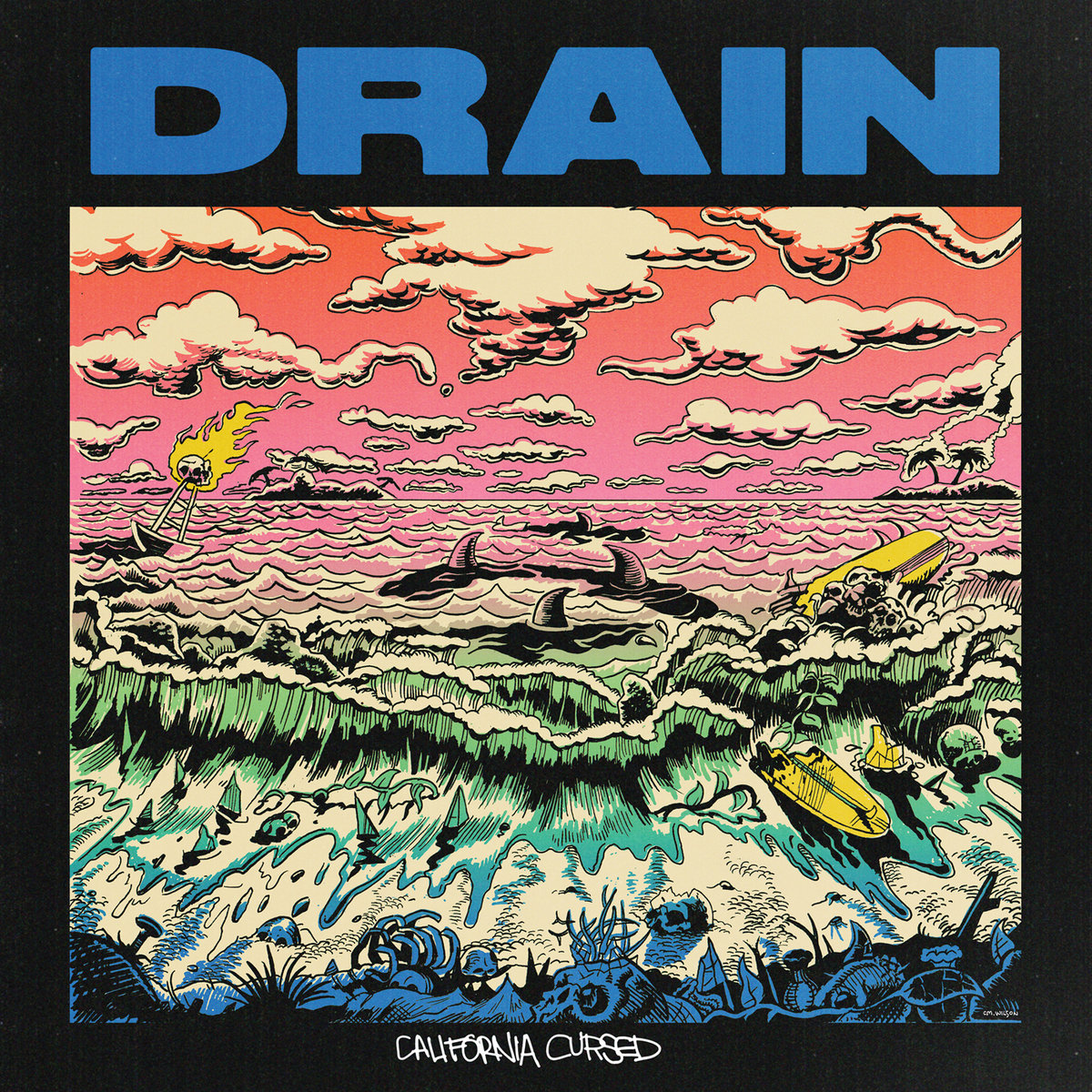 -sold out- Drain 'California cursed' LP