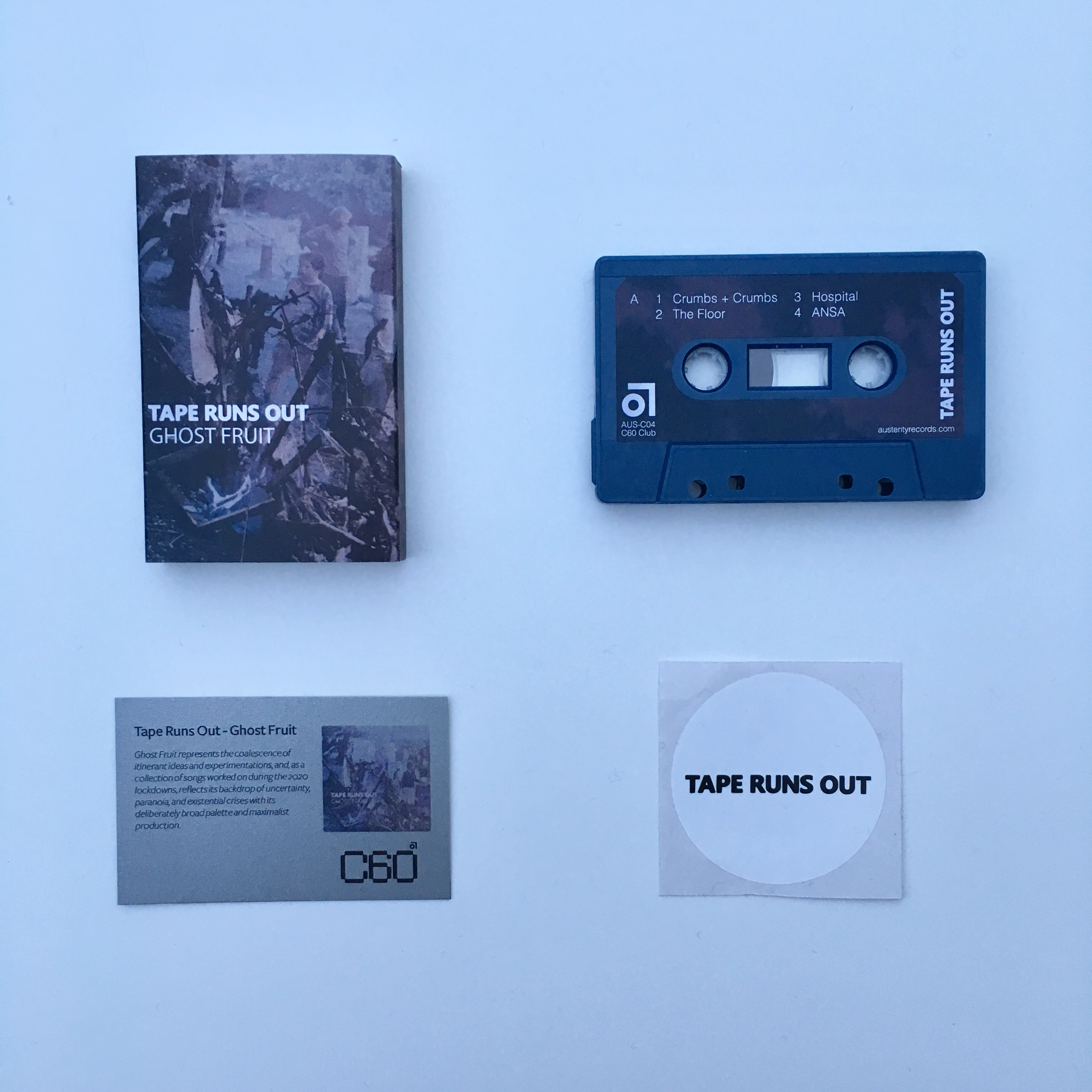 Tape Runs Out - Ghost Fruit (Very limited petrol blue cassette)