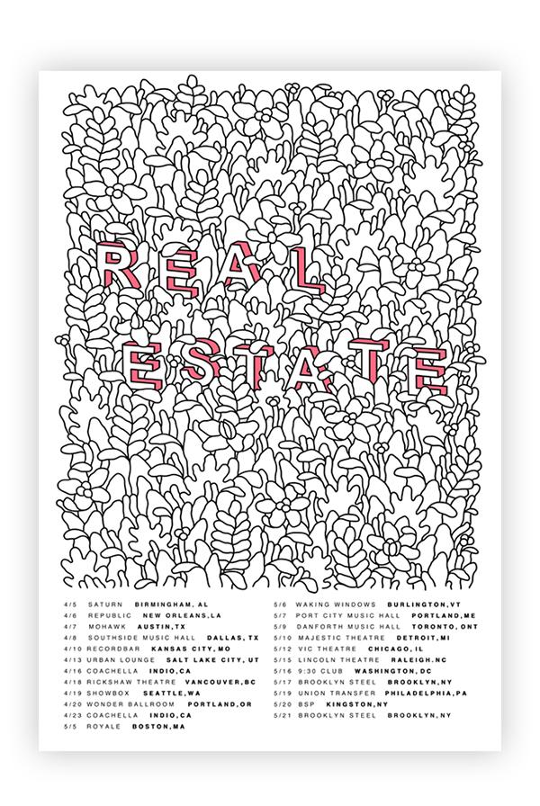 Spring 2017 Screen Printed Tour Poster