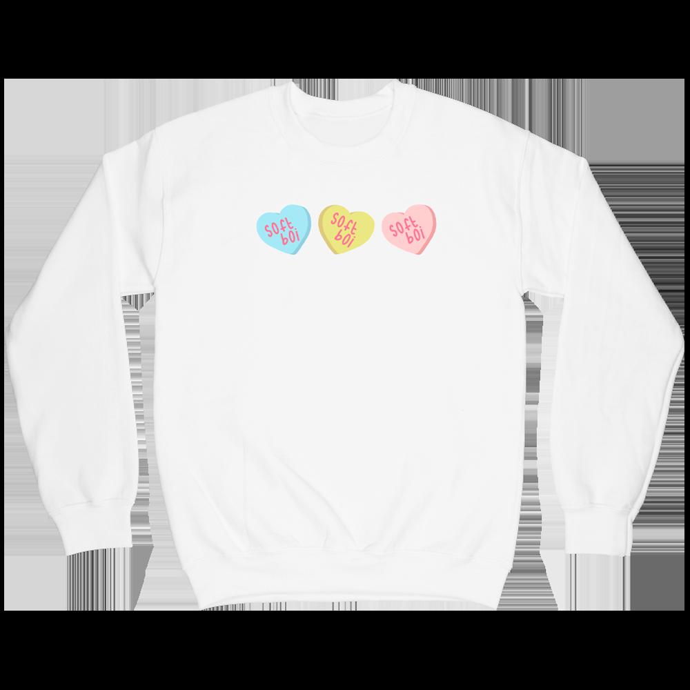Candy Hearts Crewneck - White