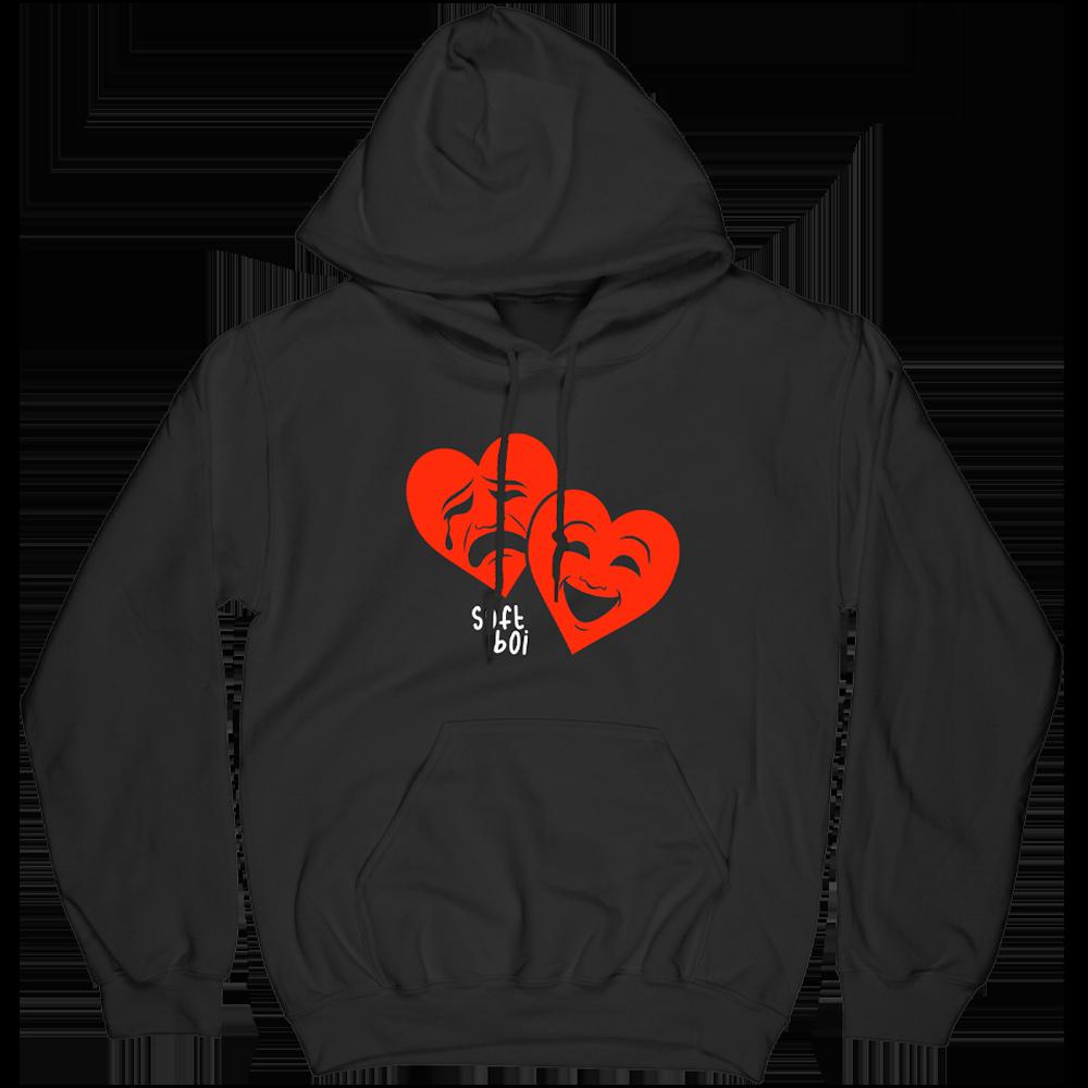 Drama Hearts Hoodie - Black
