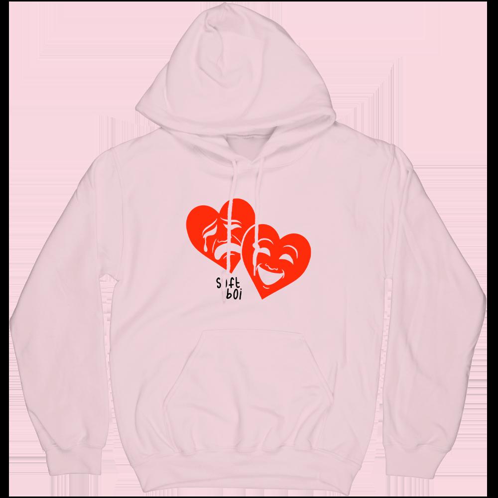 Drama Hearts Hoodie - Pink