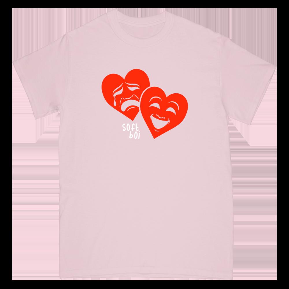 Drama Hearts Tee - Pink