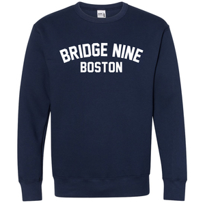 Bridge Nine 'Boston' Navy Crewneck Sweatshirt