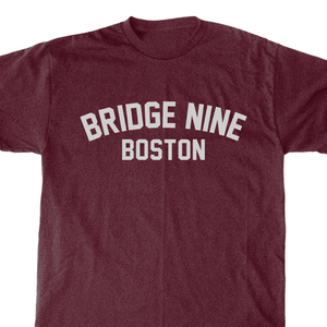 Bridge Nine 'Boston' Heather Burgundy T-Shirt