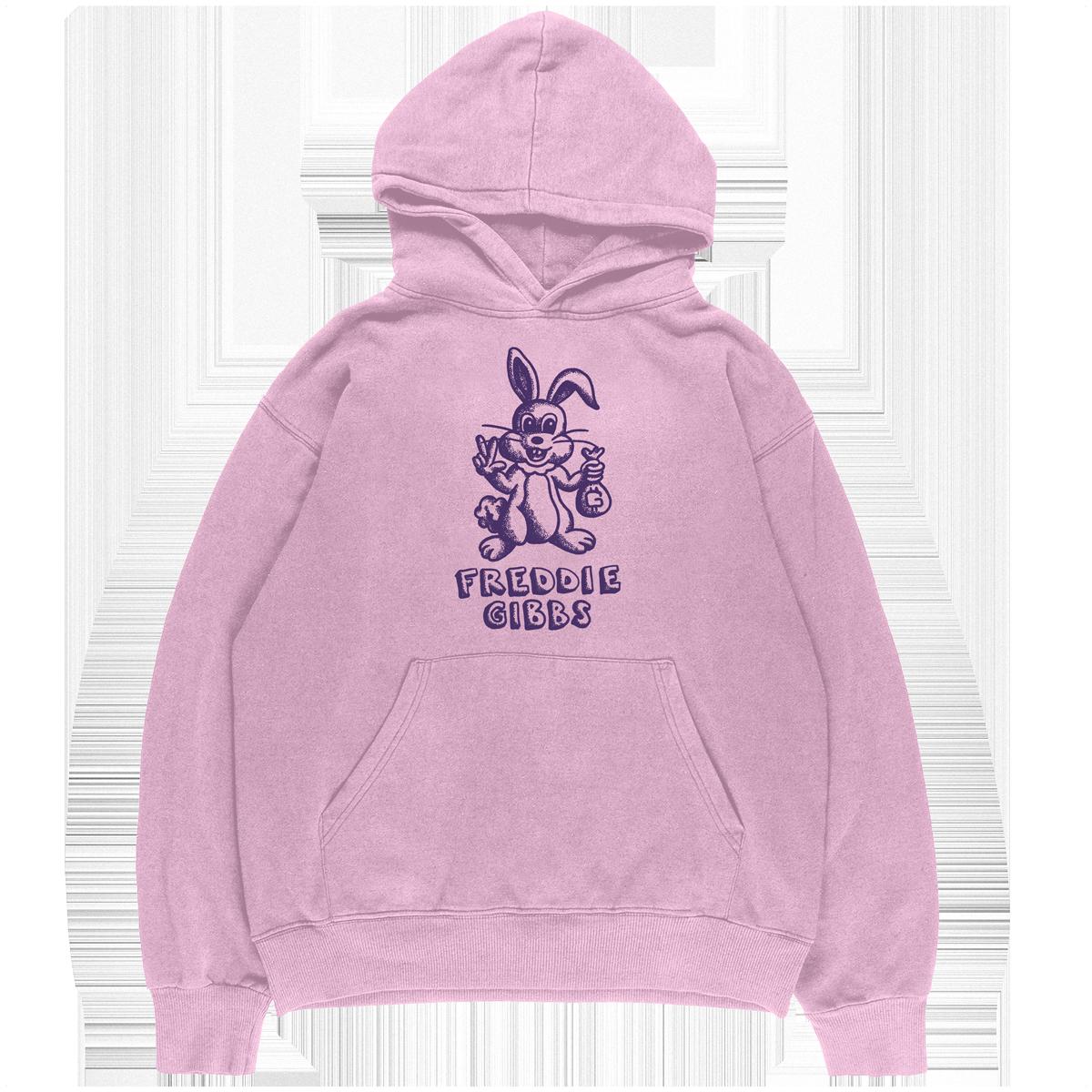Cartoon Bunny Hoodie - Pink