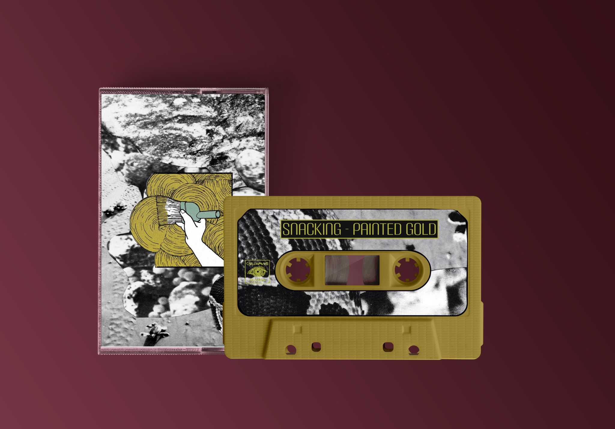 Snacking - Painted Gold Cassette Tape