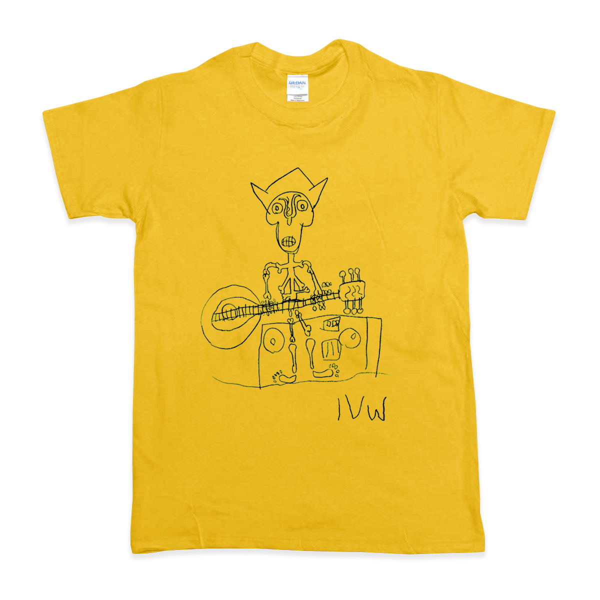 'Skeleton' T-Shirt (Gold)