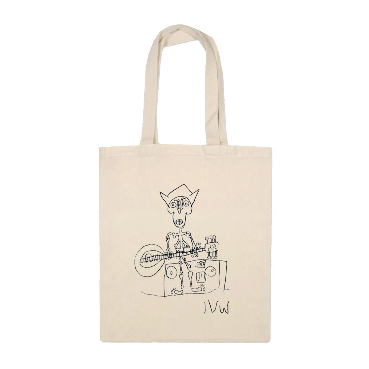 'Skeleton' Tote Bag (Natural)