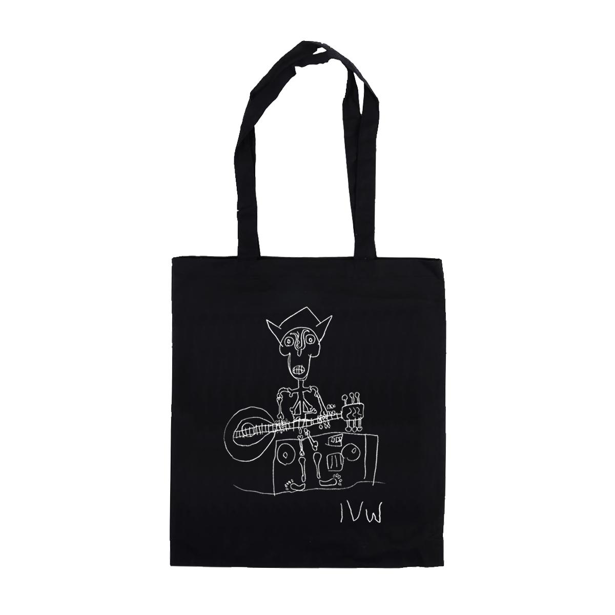 'Skeleton' Tote Bag (Black)