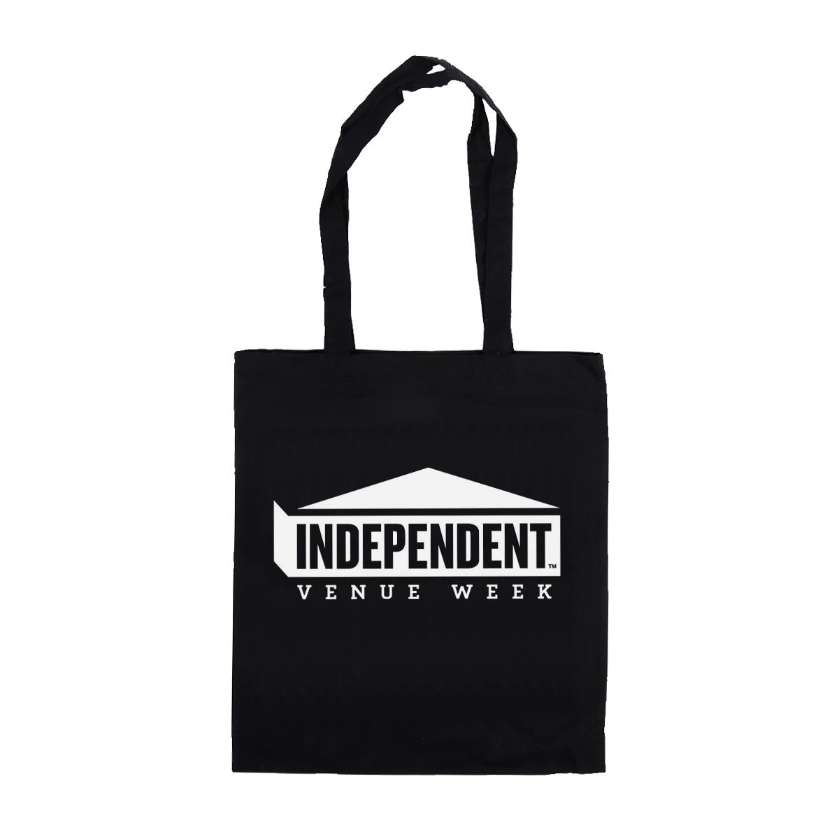 IVW Logo Tote Bag (Black w/White)