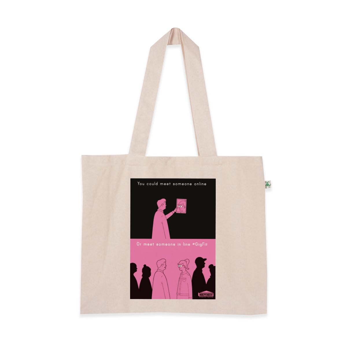 'Gig Fit' Shopper Bag (Natural)